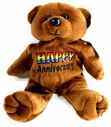 Rainbow Plush  Bear  Happy Anniversary
