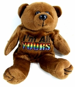 Rainbow Plush Bear  I'm All Yours