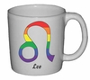 Rainbow Mug Leo  Astrological Symbol