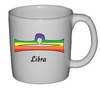 Rainbow Mug Libra  Astrological Symbol