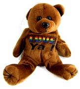 Rainbow Plush Bear  Love Ya!
