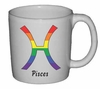 Rainbow Mug  Pisces  Astrological Symbol