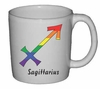 Rainbow Mug  Sagittarius  Astrological Symbol