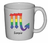 Rainbow Mug Scorpio  Astrological Symbol