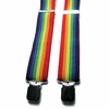 "Rainbow Suspenders 1-1/2"" w.  x 54"" long   (X-Tall size)"