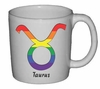 Rainbow Mug Taurus  Astrological Symbol