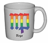 Rainbow Mug Virgo   Astrological Symbol