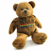 Rainbow Plush Bear  You Make Me Happy