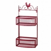 Red Rooster Double Basket Wall Display