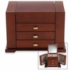 Reed & Barton Amelia Jewelry Chest Dark Cherry Finish FREE SHIPPING