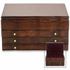 Reed & Barton Athena Mahogany Jewelry Chest  FREE SHIPPING