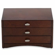 Reed & Barton Avery Mahogany Jewelry Chest  FREE SHIPPING