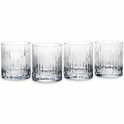 Reed & Barton Crystal Soho Double Old Fashions  (set of 4)   FREE SHIPPING