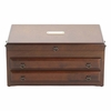 Reed & Barton Regal Jewelry Chest Mahogany  FREE SHIPPING