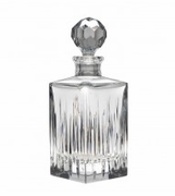Reed & Barton Soho Crystal Square Decanter  FREE SHIPPING