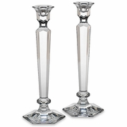 "Reed & Barton Summit Crystal Candlesticks Pair  12""h  FREE SHIPPING"