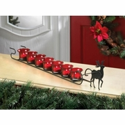 Reindeer Sleigh Tea Light Candle Display