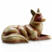 Resting Fox Brass Figurine