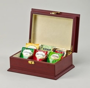 Tea Bag Chest 6 Compartments   Rosewood