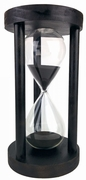 Round Black Hourglass with White or Black Sand