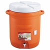 Insulated Beverage Container, 3 gal, 11 dia x 16.7 h, Orange/White