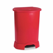 Rubbermaid Medical Waste Step-On Container, Plastic, 30 gal, Red