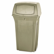 Rubbermaid Ranger Fire-Safe Container, Square, Structural Foam, 35gal, Beige