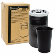Rubbermaid Smoking Urn, Trash Receptacle Black  FREE SHIPPING