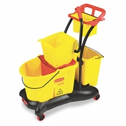 Rubbermaid WaveBreak Dual Mop Bucket with Sideward Pressure Wringer  FREE SHIPPING