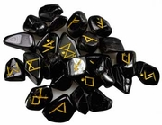 Rune Set   Black Tourmaline