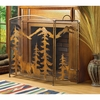 Rustic Forest Scene Fireplace Screen FREE SHIPPING