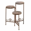Rustic Triple Planter Stand