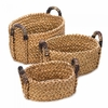 Rustic Woven  Nesting Baskets  3pc   FREE SHIPPING