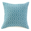 "Sailor's Knots Throw Pillow Blue  20""sq."
