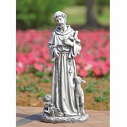 Saint Francis with Cross Garden Sculpture