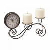 Scrollwork Tabletop Clock and Pillar Candleholder