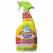 Fantastik Scrubbing Bubbles Lemon Power Antibacterial Cleaner, 32 oz Spray Bottle,
