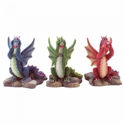 See, Hear, Speak No Evil Dragons Figurines  3pc.