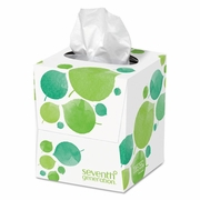 Seventh Generation 100% Recycled Facial Tissue, 2-Ply, Pop-up Cube Box, 85/Box