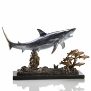 Shark with Prey Sculpture    FREE SHIPPING