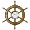 "Ship's Wheel Clock  24""dia"
