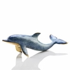 Single Dolphin Solid Brass Figurine