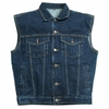 Sleeveless Vest Blue Denim  (sizes L-6X)