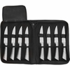 Slitzer™ 9pc Professional Stainless Steel Steak Knife Set