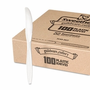 Solo Guildware Heavyweight Polystyrene Full-Size Knives,White (100/pc)