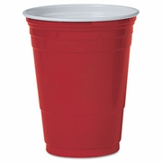 Solo Red Plastic Party Cold Cups, 16oz,   50/Bag, 20 Bags/Carton. FREE SHIPPING