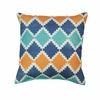 "Southwestern Diamond Patten Throw Pillow 17""sq"