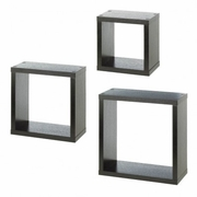Square Floating Wall Cubes  Set of 3