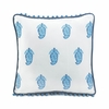 Square Tasseled Blue Paisley Throw Pillow