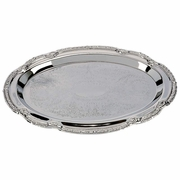 Sterlingcraft  Small Oval Nickleplated  Serving Tray